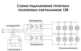 Трансформаторы для галогенных ламп — выбор и подключние