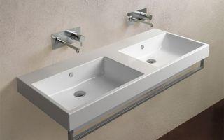 Двойная раковина в ванную: виды, как выбрать и правильно установить