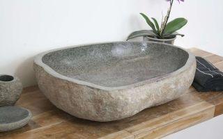 Раковины из натурального и искусственного камня: плюсы и минусы