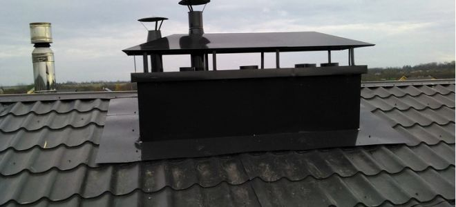 Вентиляция и дымоход в одном коробе