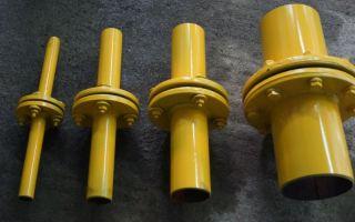 Изолирующие фланцевые соединения на газопроводе