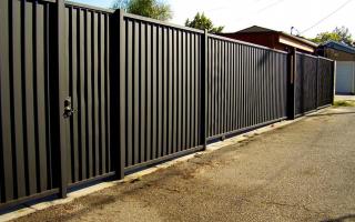 Забор из профлиста своими руками: чертежи, методика и секреты сборки конструкции
