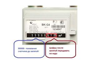 Как считать показания газового счетчика