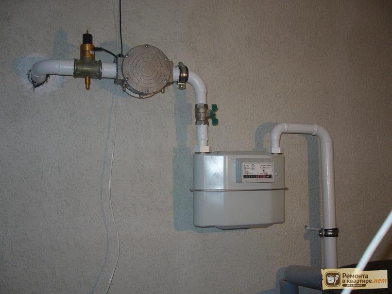 Установка счетчика на газ в квартире стоимость