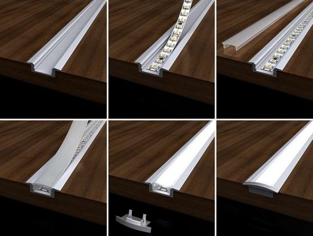 Профиль для светодиодной ленты: классификация, выбор, инструкция по монтажу