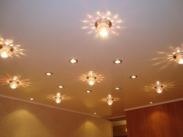 Точечные светильники - конструкция, выбор и монтаж