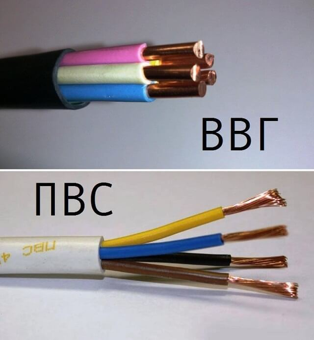 Расшифровка обозначений и технические характеристики кабля ПВС