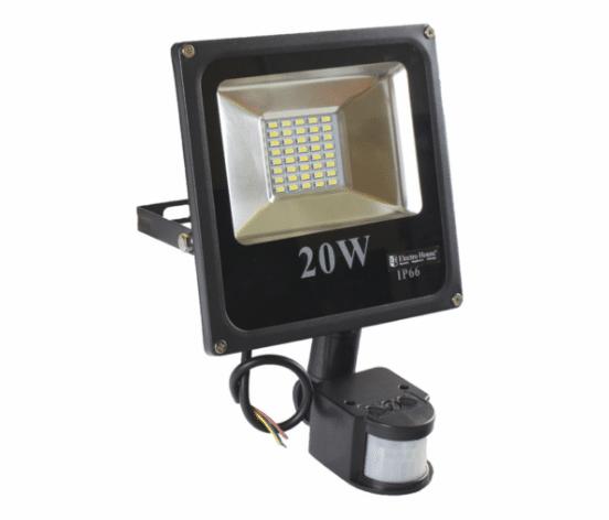 Характеристики и монтаж уличных прожекторов с датчиком движения
