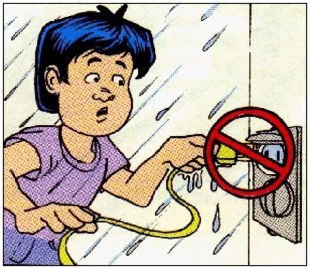 О поражении электрическим током:
