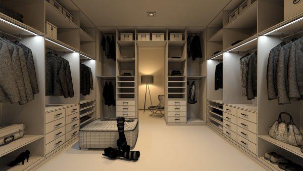 Освещение гардеробной - принцип и общие сведения