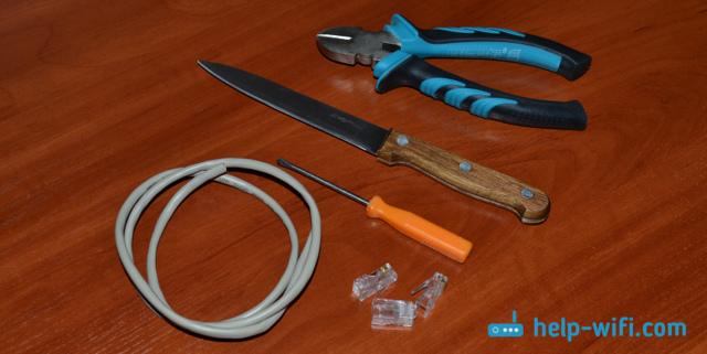 Инструмент обжимник коннектора rj45: технология соединения проводов