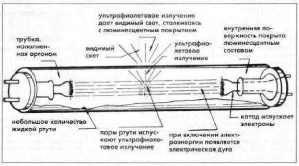 Электронный запуск люминесцентных ламп - принцип работы и подключение