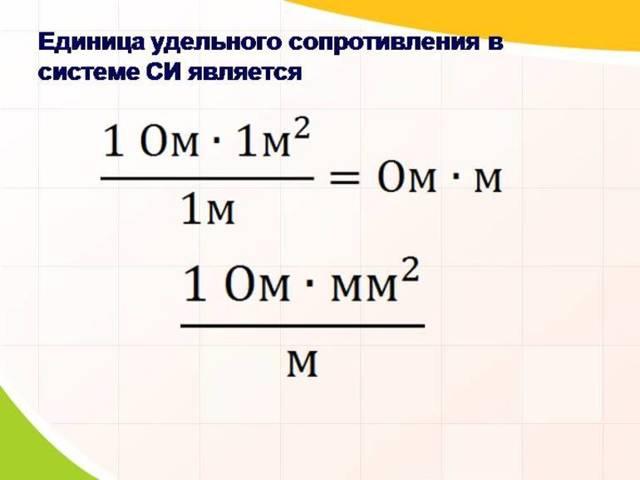 Измерение удельного сопротивления проводника: от чего зависит и единицы измерения