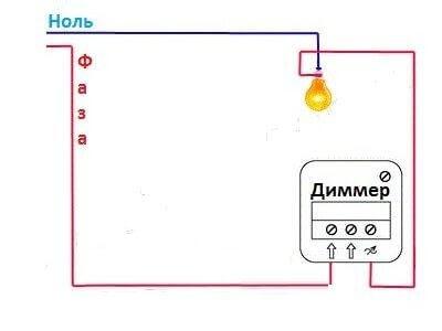 Подключение диммера для освещения: примеры, схемы