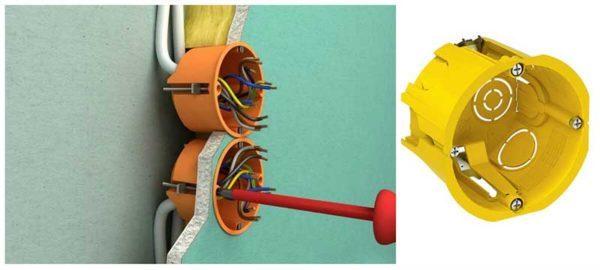 Установка розеток в гипсокартон: инструкция, особенности