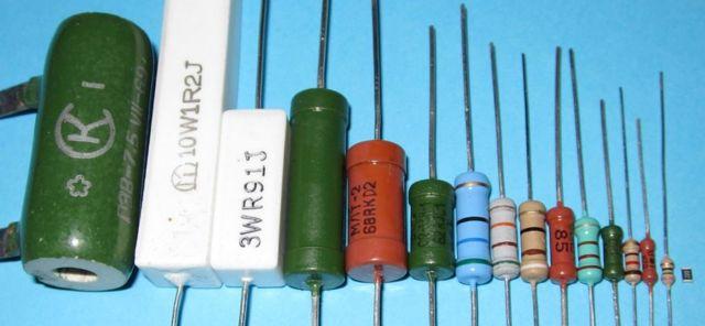 Определение мощности и сопротивления резисторов по цветовой маркировке