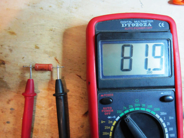 Проверка сопротивления резистора с помощью мультиметра