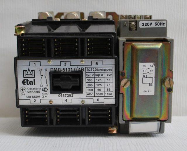 Схема подключения электромагнитных пускателей на 220В и 380В: через кнопочный пост