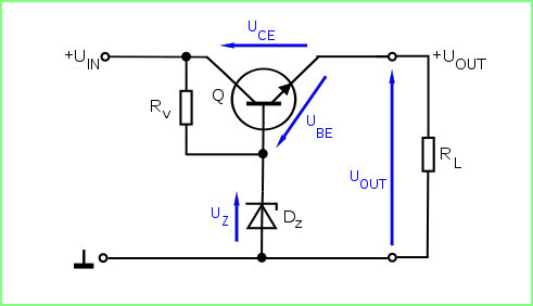 Расчет параметрического стабилизатора напряжения на стабилитроне