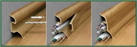 Плинтус с кабель каналом: преимущества, разновидности, установка
