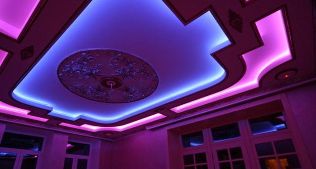 Подсветка потолка: виды подсветки, подбор светодиодной ленты