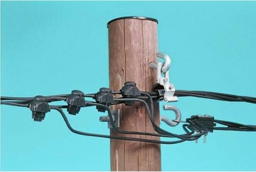 Соединения СИП-кабеля с медными проводами проколом и соединителем