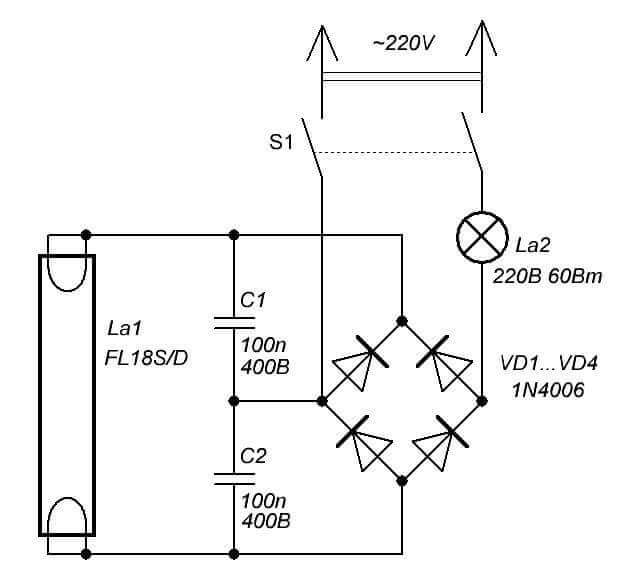 Стартёр для запуска люминесцентных ламп - выбор и запуск