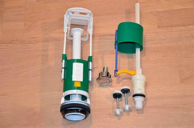 Арматура сливного бачка унитаза: обзор компонентов водосливной запорной системы