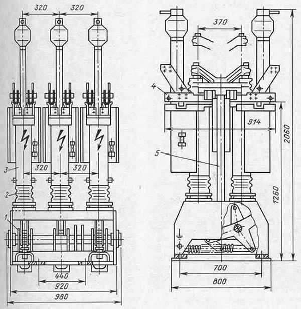 Масляный выключатель: разновидности с применением и номенклатура