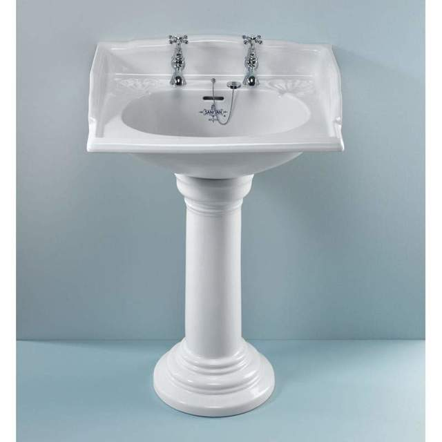 Раковина для ванной с пьедесталом: установка, монтаж, подключение