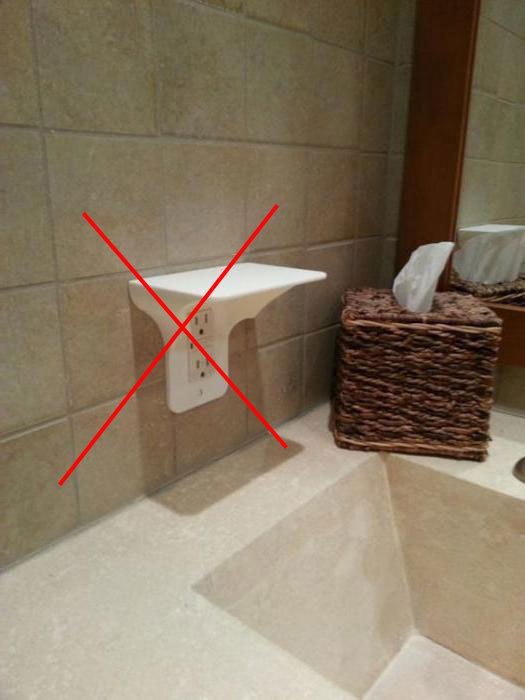 Установка розеток в ванной комнате: нормы безопасности и инструктаж