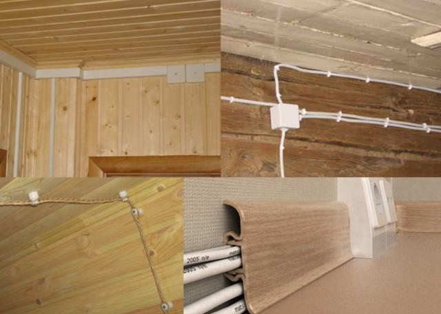 Электрика в деревянном доме: схемы проводки и правила монтажа