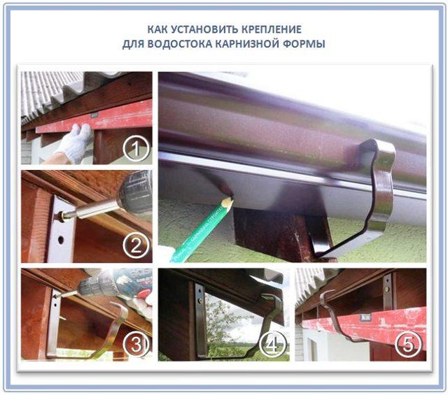 Установка водостоков: как установить и прикрепить водосток к крыше