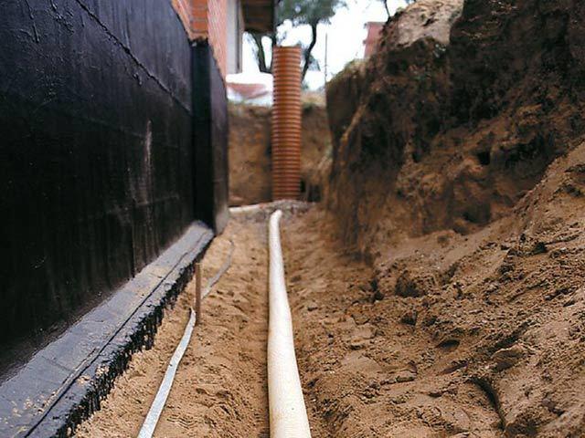 Пристенный дренаж фундамента: технология и схемы обустройства водоотвода