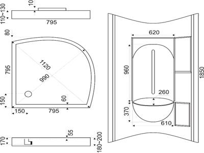 Типовые размеры душевых кабин: основные стандарты