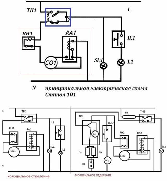 Электрическая схема холодильника: устройство и принцип работы бытовых холодильников