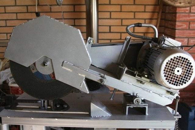 Отрезной станок по металлу своими руками: конструкция, схема и порядок сборки самоделки