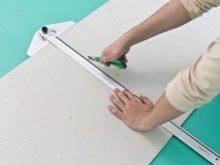 Как резать гипсокартон в домашних условиях: способы резки и инструктаж по проведению работ