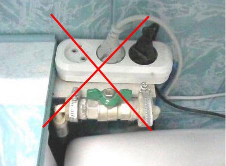 Где должны располагаться розетки в ванной?