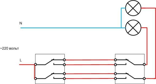 Схема подключения проходного выключателя одноклавишного: правила подключения и монтажная инструкция